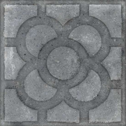 WORLD STREETS ACORN GRAFITO 20 x 20 cm - Carrelage aspect carreaux de ciment fleur anthracite