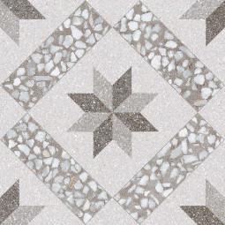 GADNER CEMENTO 30 x 30 cm - Carrelage aspect carreaux de ciment motif étoile