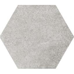 HEXATILE CEMENT - GREY - Carrelage 17,5x20 cm hexagonal uni aspect ciment gris