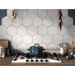 HEXATILE BRILLO BLANCO - Carrelage hexagonal blanc brillant