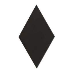 RHOMBUS - BLACK SMOOTH - Carrelage 14x24 cm losange sol & mur uni Noir