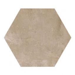 URBAN HEXA NUT- Carrelage 29,2 x 25,4 cm Hexagonal uni aspect béton Taupe