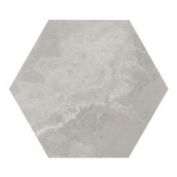 URBAN HEXA SILVER - Carrelage 29,2 x 25,4 cm Hexagonal aspect Béton Gris