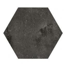 URBAN HEXA DARK - Carrelage 29,2 x 25,4 cm Hexagonal aspect Béton Noir