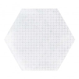 URBAN HEXA MELANGE LIGHT - Carrelage 29,2 x 25,4 cm Patchwork Hexagonal aspect béton Blanc