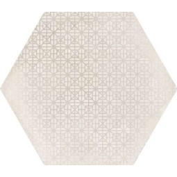 URBAN HEXA MELANGE NATURAL - Carrelage 29,2 x 25,4 cm Patchwork Hexagonal aspect Béton Crème