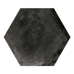 URBAN HEXA MELANGE DARK - Carrelage 29,2 x 25,4 cm Patchwork Hexagonal aspect Béton Noir