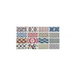METRO PATCHWORK - Faience 7,5x15 cm Patchwork Métro Parisien à motifs colorés