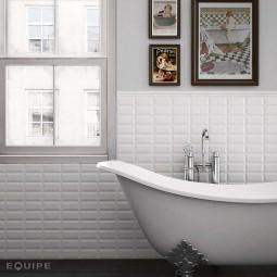 METRO WHITE 10x20 cm - Faience Métro blanc