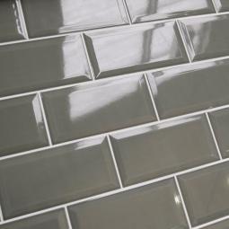 METRO DARK GREY  10x20 cm - Faience Métro gris souris