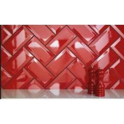METRO ROSSO 10x20 cm - Faience Métro rouge