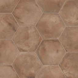 TERRA ROSSO HEXAGONAL Carrelage aspect ciment vieilli
