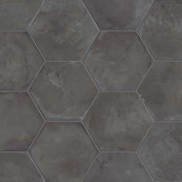 TERRA NERO  HEXAGONAL Carrelage aspect ciment vieilli