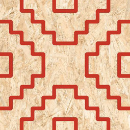 SERIAKI STRAND ROJO Carrelage aspect bois OSB rouge
