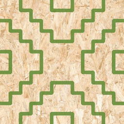 SERIAKI STRAND VERTE Carrelage aspect bois OSB vert