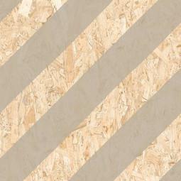 NENETS STRAND CEMENTO Carrelage aspect bois OSB à motifs géométriques