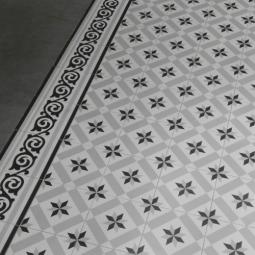 1900 CALVET Carrelage aspect carreaux de ciment motif étoile