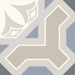 ALAMEDA LINDEN SKY Carrelage 20x20 cm aspect carreaux de ciment motif fleur.