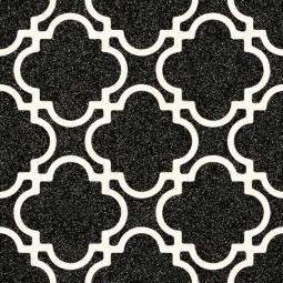 ALAMEDA BULNES GRAFITO Carrelage 20x20 cm aspect carreaux de ciment motif fleur.