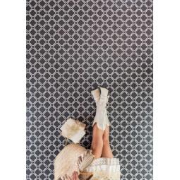 ALAMEDA BULNES GRAFITO Carrelage aspect carreaux de ciment motif fleur.