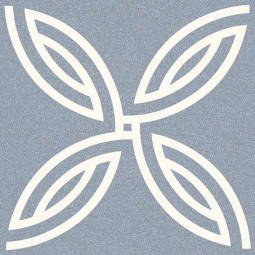 ALAMEDA ANDRASSY CIELO Carrelage 20x20 cm aspect carreaux de ciment motif rosace.