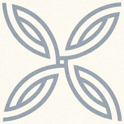 ALAMEDA ANDRASSY BLANCO  Carrelage 20x20 cm aspect carreaux de ciment motif rosace.