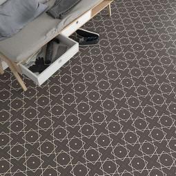 ALAMEDA ELISEOS GRAFITO  Carrelage aspect carreaux de ciment motif géométrique.