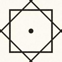 ALAMEDA ELISEOS BLANCO  Carrelage aspect carreaux de ciment motif géométrique.