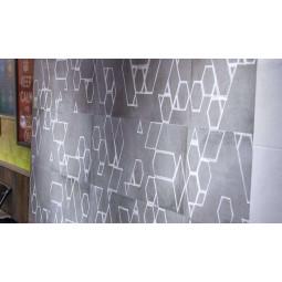 KENT FIRLE GRAFITO - faience déco craie géométrique