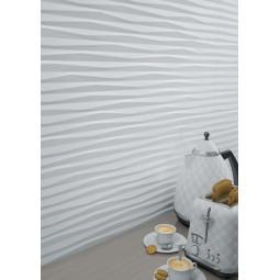 PAMUKKALE  R BLANCO - Faience grand format blanche à relief