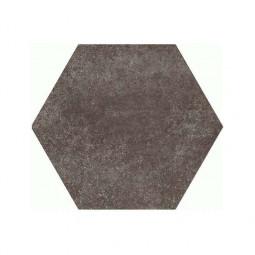 HEXATILE CEMENT - MUD - Carrelage 17,5x20 cm hexagonal uni aspect ciment marron