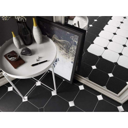 OCTAGON  NEGRO MATE - Carrelage octogonal noir mate