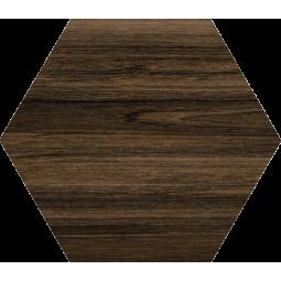 HEXAGONO BELICE NOCE - Carrelage hexagonal aspect bois grand format