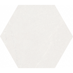 SEINE HEXAGONO BLANCO - Carrelage hexagonal grand format aspect pierre