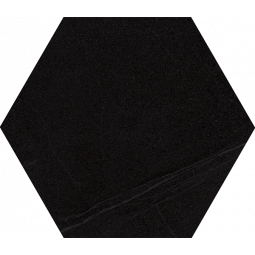 SEINE HEXAGONO BASALTO - Carrelage hexagonal grand format aspect pierre