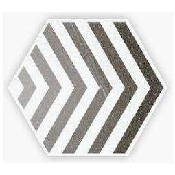 SEINE HEXAGONO LACROIX GRIS - Carrelage hexagonal motifs linéaire