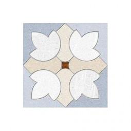 SEINE GARIGLIANO R CIELO - Carrelage aspect ciment  à motif fleur