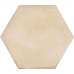 TERRA AVORIO HEXAGONAL - 25x21,6 cm Carrelage aspect ciment vieilli