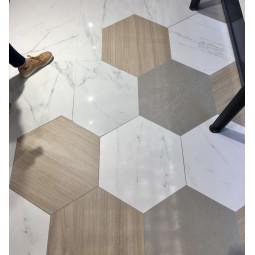 NIKOI HEXAGONO VERBIER Carrelage hexagonal grand format aspect marbre