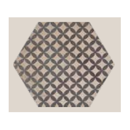TERRA ASTRO HEXA - 25x21,6cm - GRIS - Carrelage aspect ciment vieilli