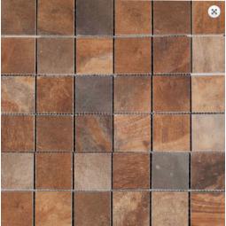 MALLA PIETRA OXID -  31,6 x 31,6 cm - Mosaïque aspect ardoise marron oxidé