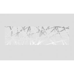 DÉCOR MOMA -  29x100  cm - Faïence décorative blanc et métallisée