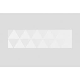 DÉCOR DIAMOND WHITE - 29x100cm - Faience décoratif triangle