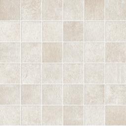 MATERIKA MOSAICO WHITE - Mosaïque aspect béton brut