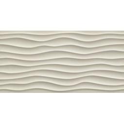 3D DUNE SAND MATT - Faiene à relief vague 40x80 cm beige
