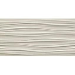 3D RIBBON SAND MATT - Faience à relief 40x80 cm beige