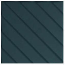 4D DIAGONAL BLUE - 20x20 cm - Faïence à relief géométrique bleu pétrole mate