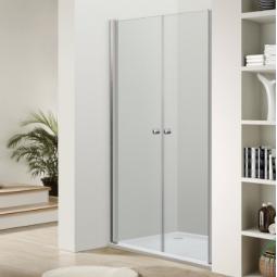 Paroi portes battantes ouverture totale intérieur et extérieur finition chromée 90 cm  -  VENUS