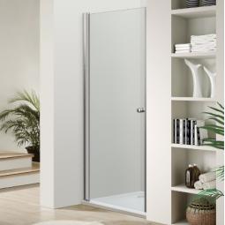 Paroi porte pivotante réversible finition chromée 90 cm - VENUS
