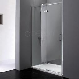 Paroi avec porte coulissante finition chromée 110 cm - EPONA